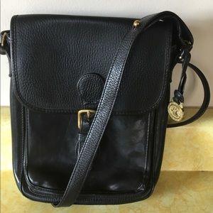 Brahmin Crossbody Black Leather Shoulder Bag